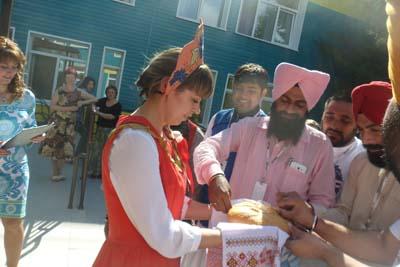 Прием гостей из Индии